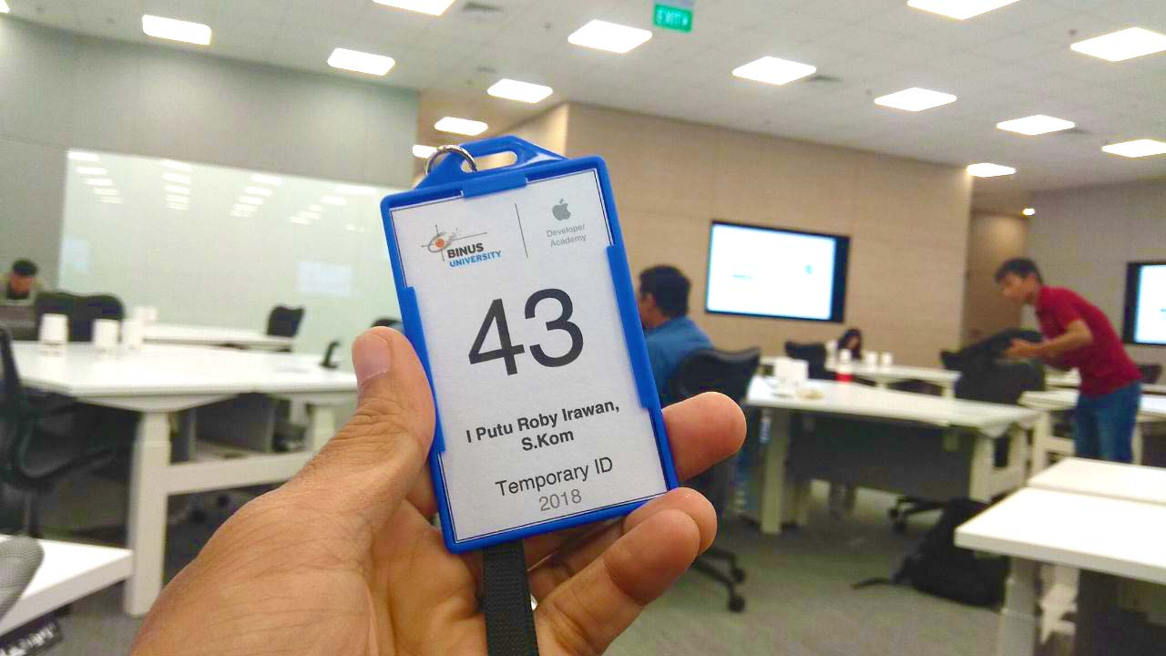 Apple Developer Academy Indonesia Nametag