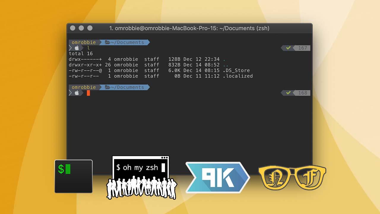 iTerm2 + Oh My Zsh + Powerlevel9k + Nerd Fonts + Dimmed Monokai